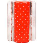 Linziclip Velký skřipec MAXI - oranžový s puntíky