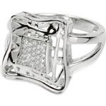 Silver Cat Stříbrný prsten s krystaly SC016