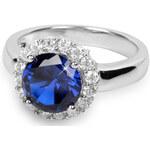 Silver Cat Stříbrný prsten s krystaly SC022