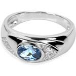 Silver Cat Stříbrný prsten s krystaly SC055