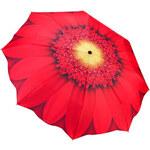 Blooming Brollies Dámský skládací plně automatický deštník Galleria Red Daisy Floral GFFRD