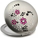 GM Collection Swarovski zrcátko Flowers I Fuchsia 710505