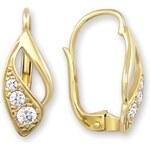 Brilio Náušnice ze žlutého zlata s krystaly 239 001 00186 - 1,85 g