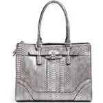 Guess Elegantní business kabelka Greyson Metallic Status Carryall