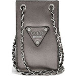 Guess Pouzdro na mobil Chit Chat Pewter Smartphone Cross-Body metalická