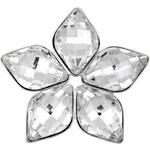Troli Brož Lemon Flower Crystal