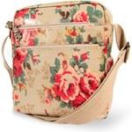 Candy Flowers Stylová crossbody kabelka s květy 4183-117
