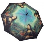 Blooming Brollies Dámský holový deštník Galleria Leonardo da Vinci Mona Lisa GASML