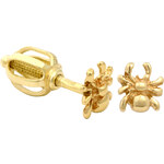 Brilio Zlaté dámské náušnice pavoučci 231 001 00454