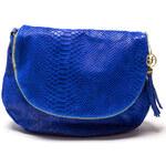 Carla Ferreri Elegantní kožená crossbody kabelka 815G Bluette