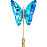 Preciosa Brož Papillon Bermuda Blue 2858Y46