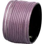 Wildskin Kožený náramek Stripes Violet