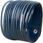 Wildskin Kožený náramek Stripes Dark Blue
