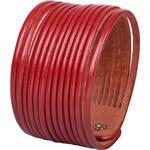 Wildskin Kožený náramek Stripes Red