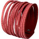 Wildskin Kožený náramek Stripes Pink