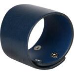 Wildskin Kožený náramek Simple Dark Blue