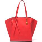 Mangotti Elegantní kožená business kabelka 388 Rosso