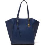 Mangotti Elegantní kožená business kabelka 388 Blu