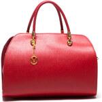 Mangotti Elegantní kožená kabelka 415 Rosso