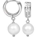 JwL Jewellery Perlové náušnice s bílou pravou perlou JL0101