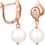 JwL Jewellery Perlové náušnice s bílou pravou perlou JL0104