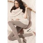 Gatta Šedobéžové dámské punčochové kalhoty Up&Go! 05 Melange Beige