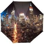 Blooming Brollies Skládací plně automatický deštník Manhattan at Night GCFMAN