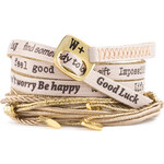 We Positive Wrap náramek Nice NI511 Cipria