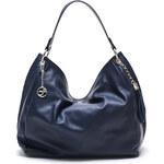Carla Ferreri Elegantní kožená kabelka 2112 Bluscuro