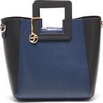 Carla Ferreri Elegantní kožená kabelka 3002 Nero Blu