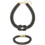 Swarovski Sada černého náramku a náhrdelníku Stardust Deluxe Set 5184480
