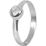 Troli Stříbrný zásnubní prsten s krystalem 426 001 00462