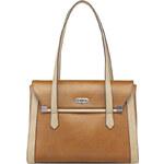 Tamaris Elegantní business kabelka Tiana Business Bag Cognac Comb 1074161-367