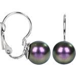 Troli Náušnice s klapkou Pearl Iridescent Purple