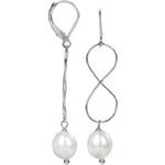 JwL Jewellery Stříbrné náušnice s pravou bílou perlou JL0156