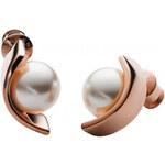 Skagen Dámské ocelové náušnice s perlou SKJ0737791
