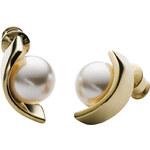 Skagen Dámské ocelové náušnice s perlou SKJ0754710