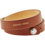 Michael Kors Hnědý kožený náramek MKJ4897710
