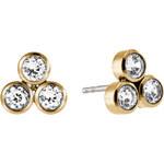 Michael Kors Zlaté náušnice pecky s krystaly MKJ4946710