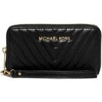 Michael Kors Elegantní kožená peněženka Susannah Large Chevron Quilted Smartphone černá