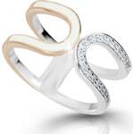 Modesi Moderní stříbrný prsten M11078