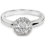 Silver Cat Stříbrný prsten s krystaly SC157