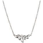 Silver Cat Stříbrný náhrdelník s lístečky s krystaly SC149
