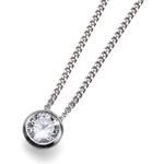 Oliver Weber Stříbrný náhrdelník Solitaire 61118