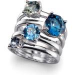 Oliver Weber Originální prsten Duo 41122 BLU