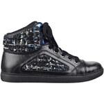 Guess Tenisky Revera Tweed High-Top Sneakers černá