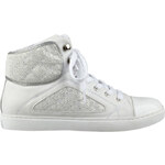 Guess Tenisky Revera Tweed High-Top Sneakers bílá