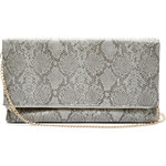 Guess Elegantní crossbody kabelka Python-Print Fold-Over Clutch multi