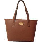 Michael Kors Elegantní kožená business kabelka Jet Set Safiano Leather Tote Brown