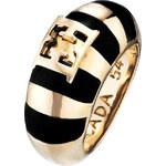 Escada Luxusní prsten Black Meets Gold E67024
